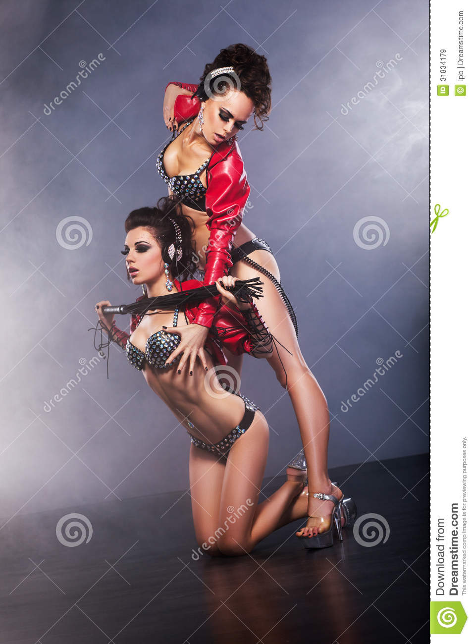 Performance Nightlife Halfdressed Flirtatious Women In