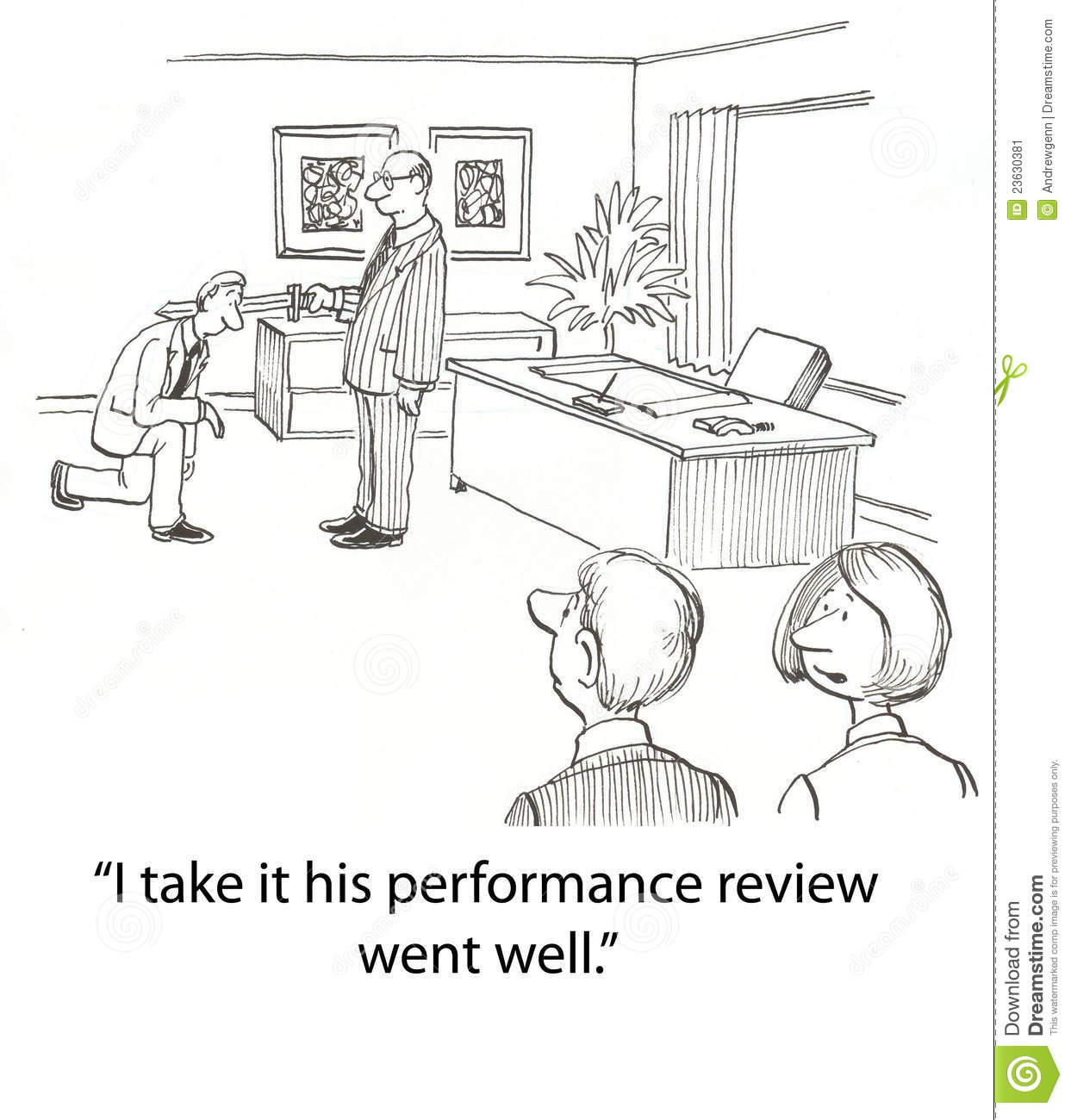Performance Review Stock Illustration Illustration Of