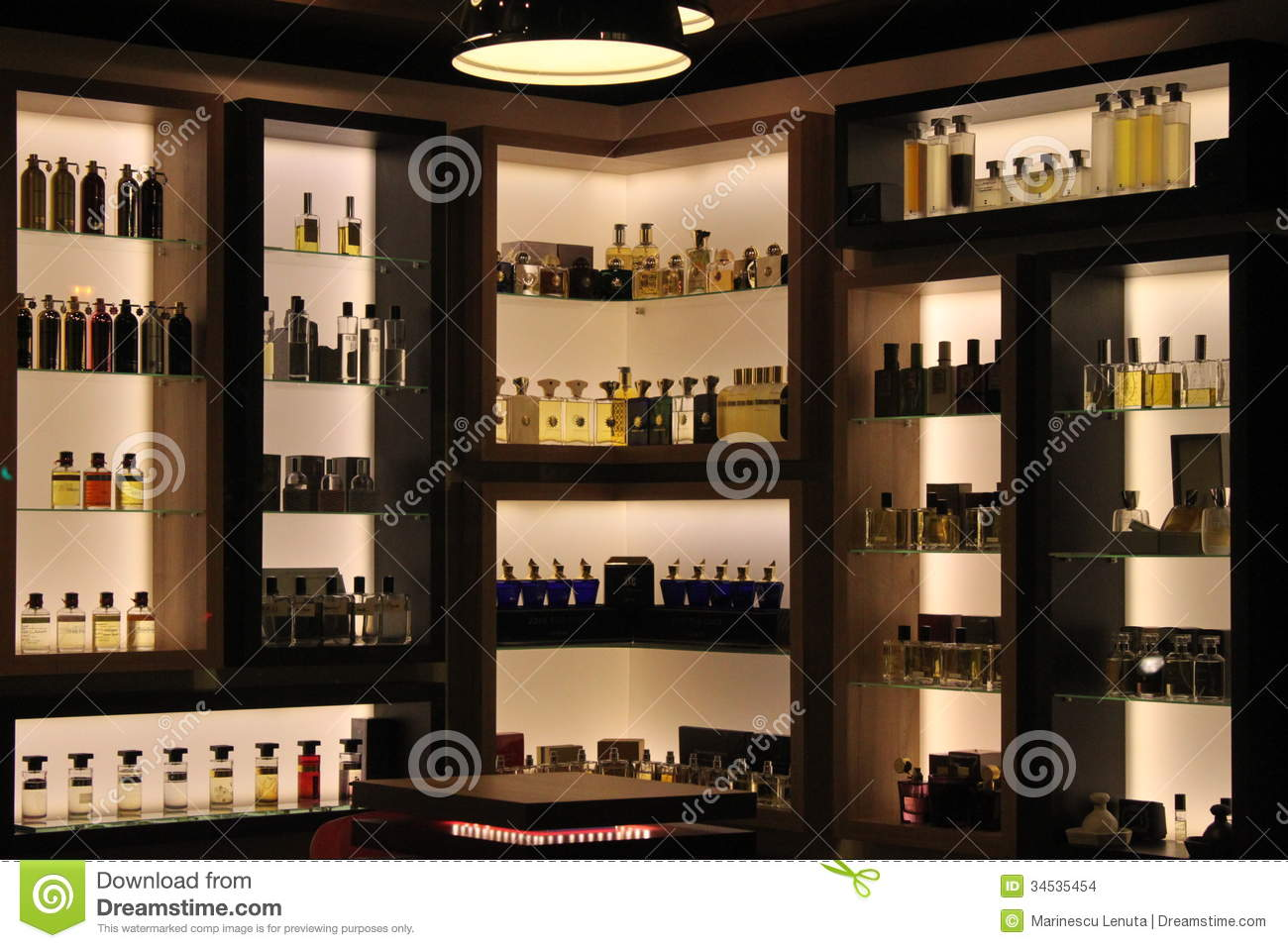 Perfumes in store editorial stock image Image of display