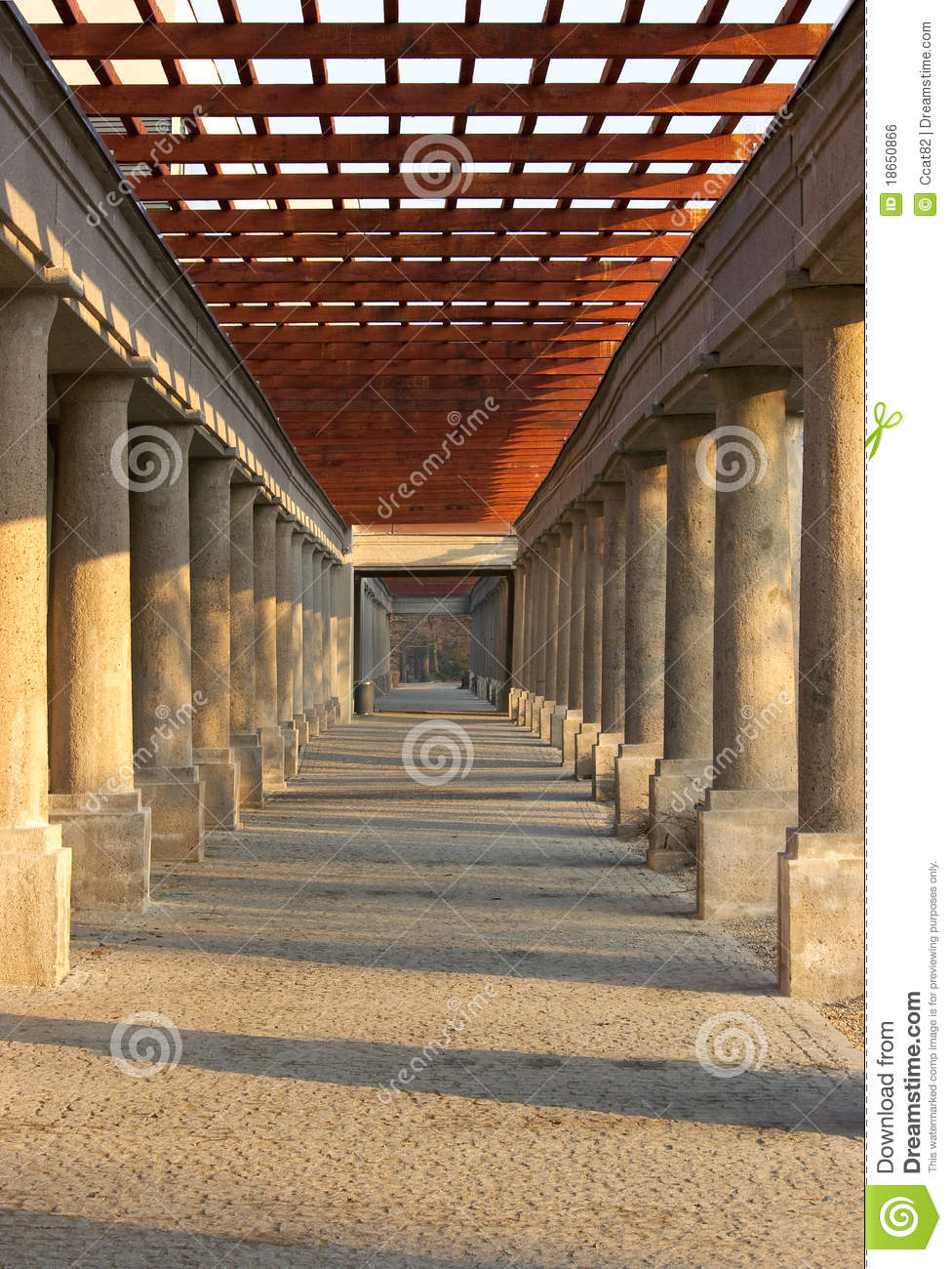 Pergola With Stone Columns Stock Photo Image Of Archway