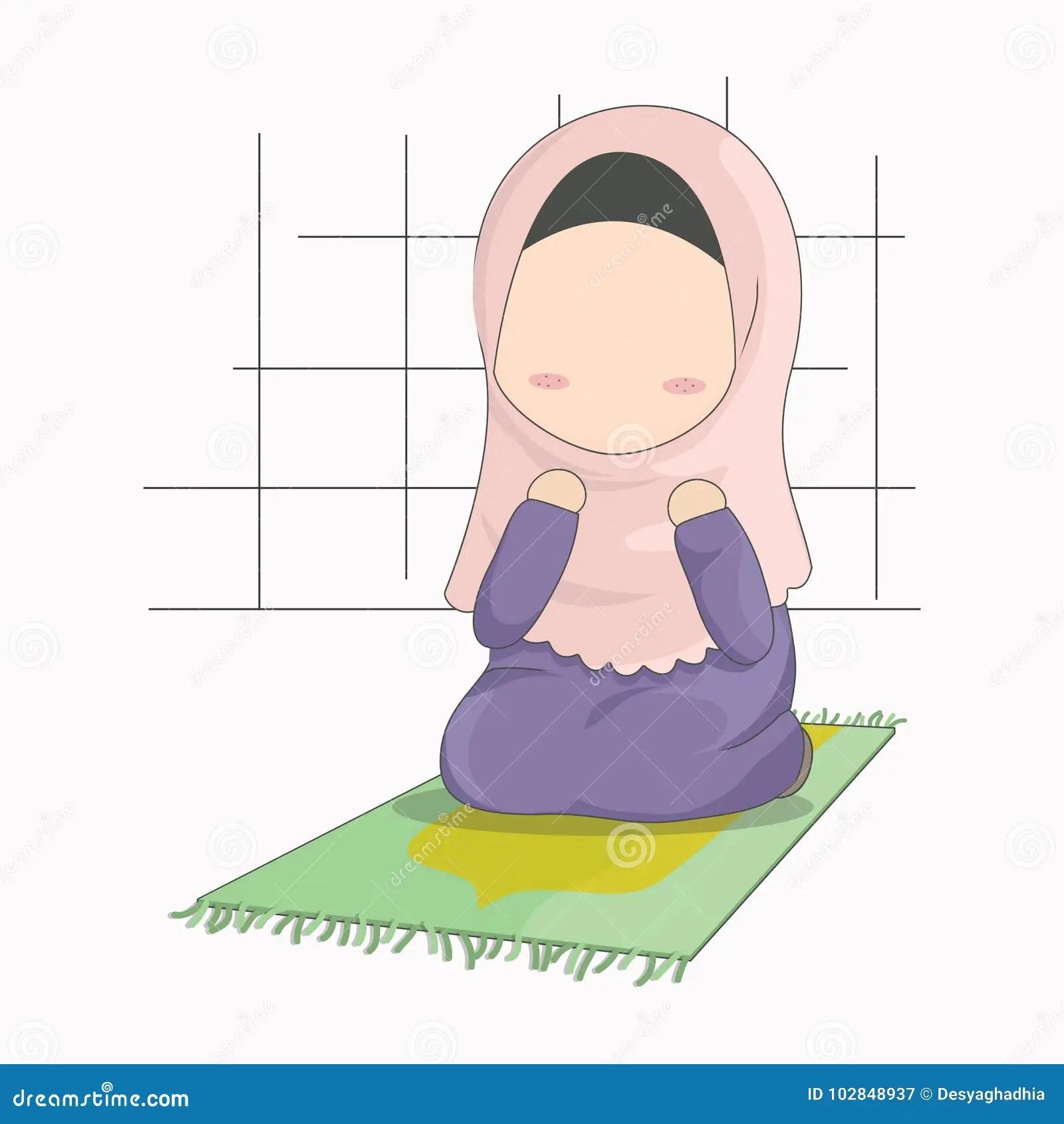 · muslim wedding couple cartoon royalty free stock. Personaggio Dei Cartoni Animati Della Ragazza Di Hijab Bambina Che Prega L Illustrazione Di Vettore Illustrazione Vettoriale Illustrazione Di Femmina Santo 102848937