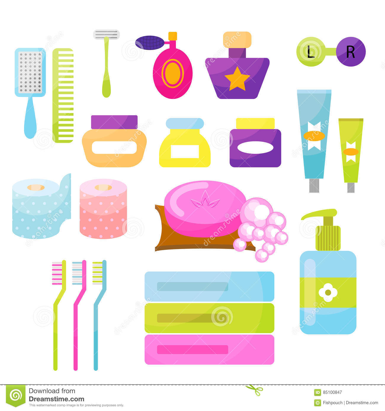 Personal Hygiene Vector Items Stock Vector