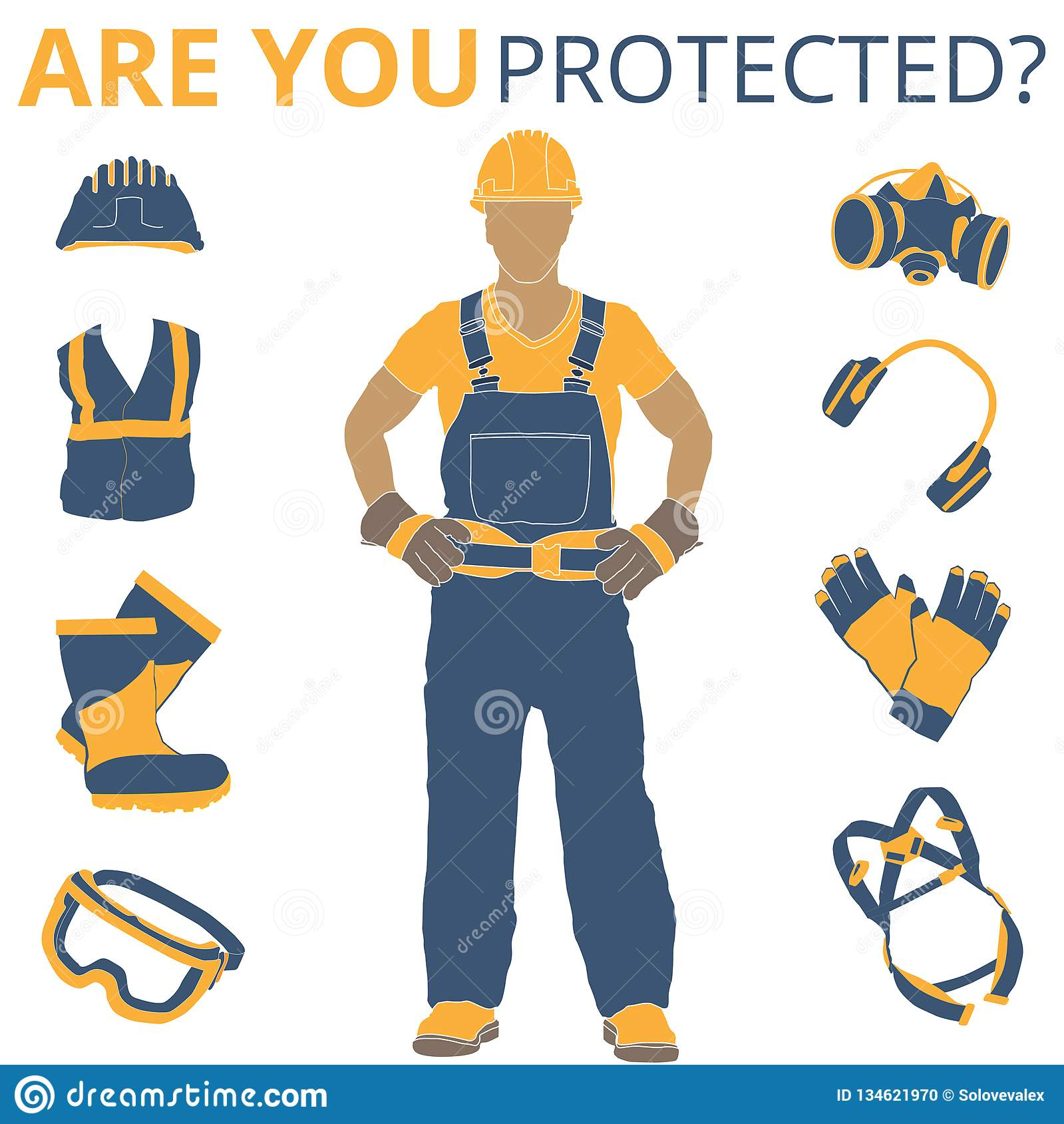 Personal Protective Equipment Vector Illustration Stock