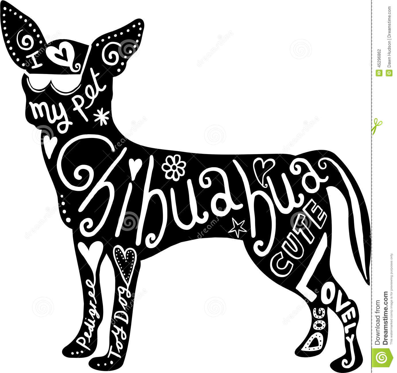 Pet Chihuahua Dog Stock Illustration Illustration Of