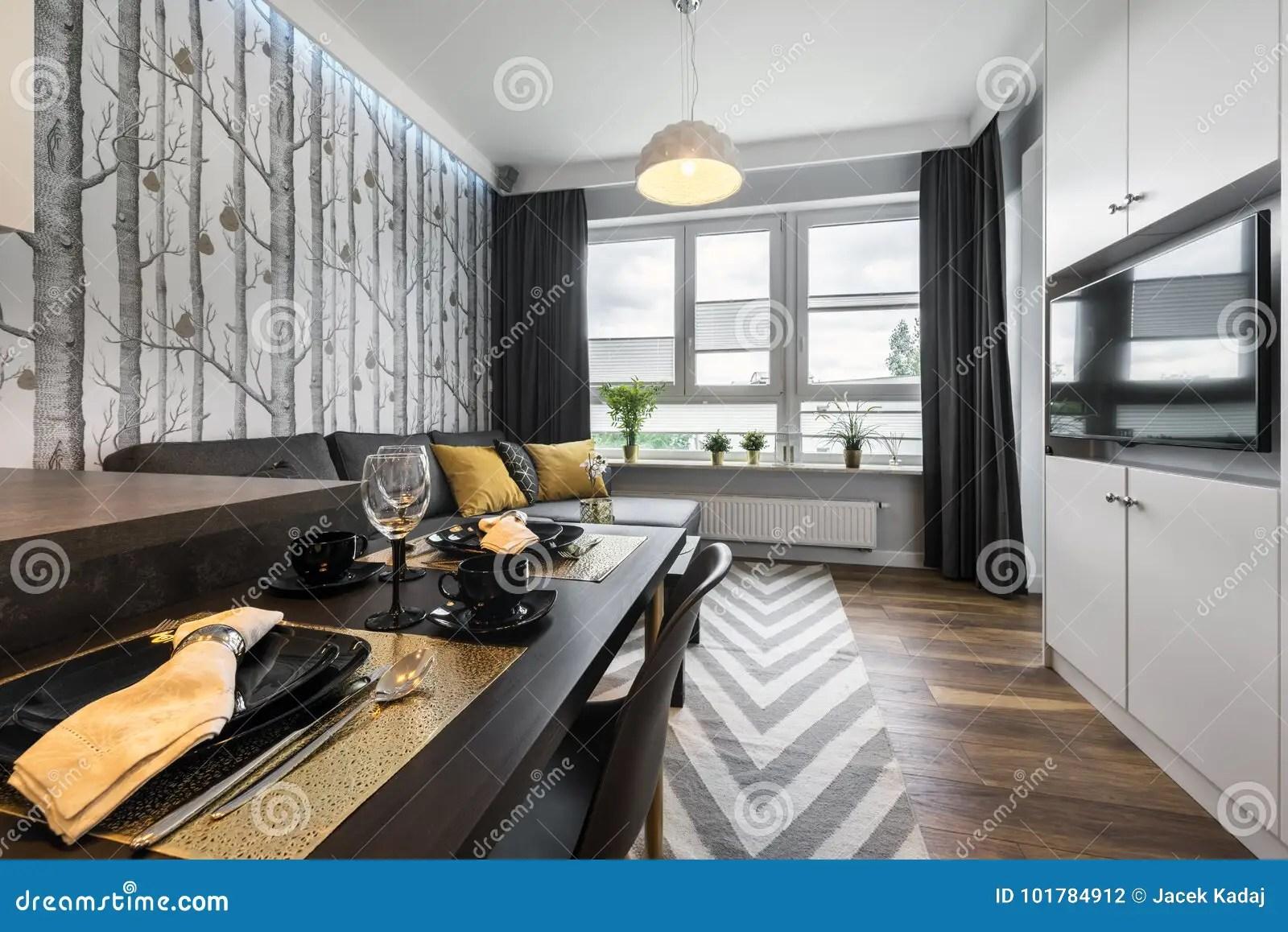 petit salon moderne de conception