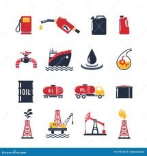 Petroleum Industry Icon Set Stock Vector - 51913472
