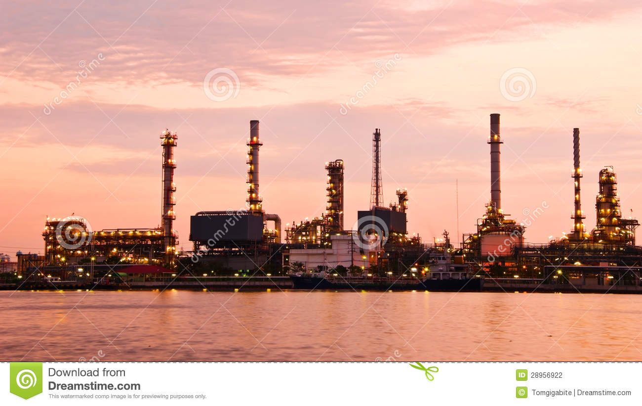 6 7 Diesel Fuel Filters Petroleum Oil Refinery Factory Over Sunrise Stock Photo