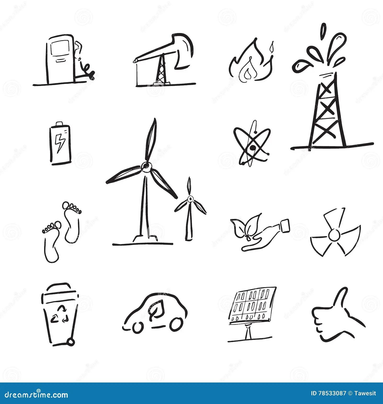 Petroleum And Renewable Energy Cartoon Stock Vector
