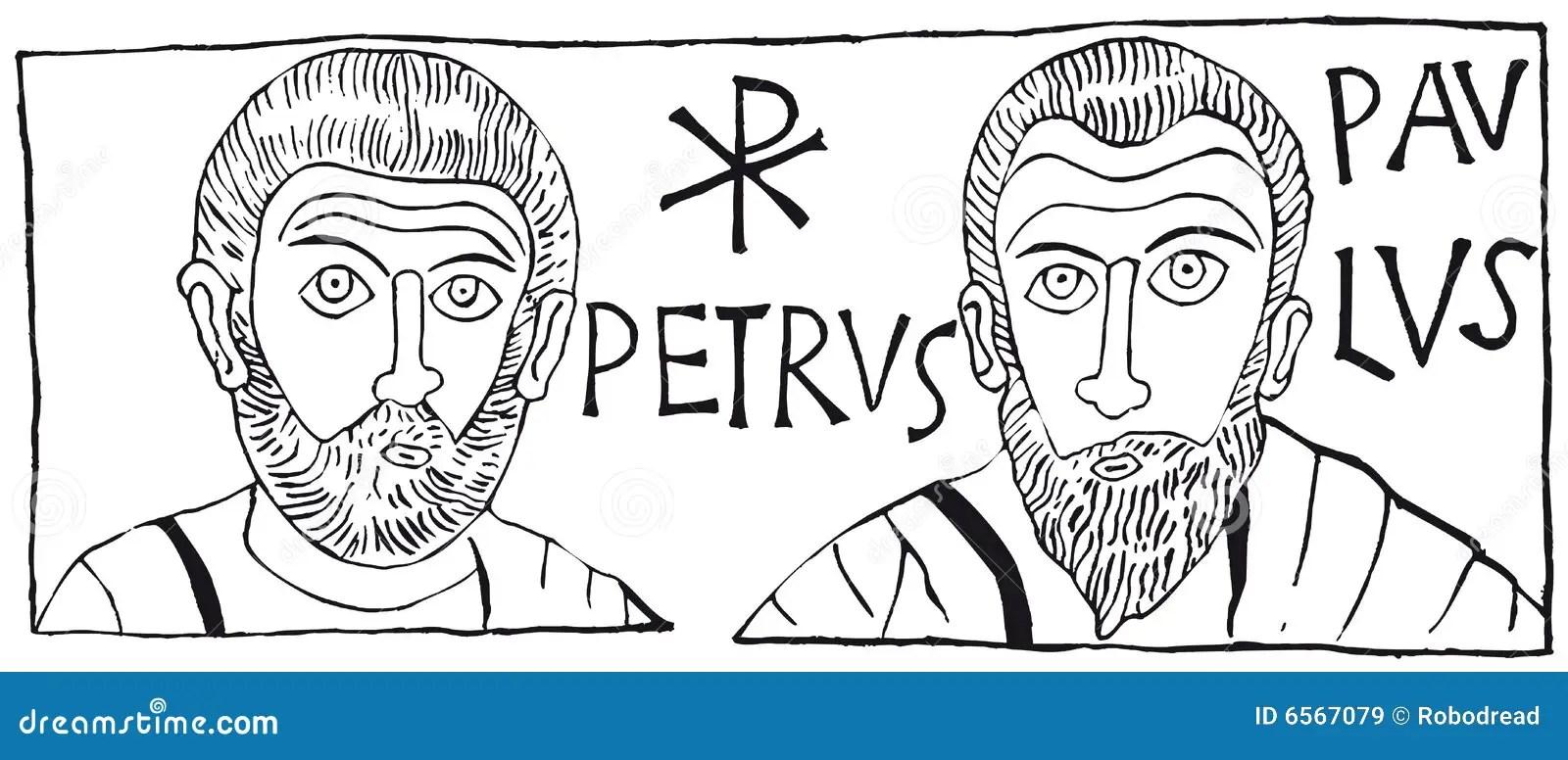 Petrus Paulus (Vektor) vektor abbildung. Bild von kirche