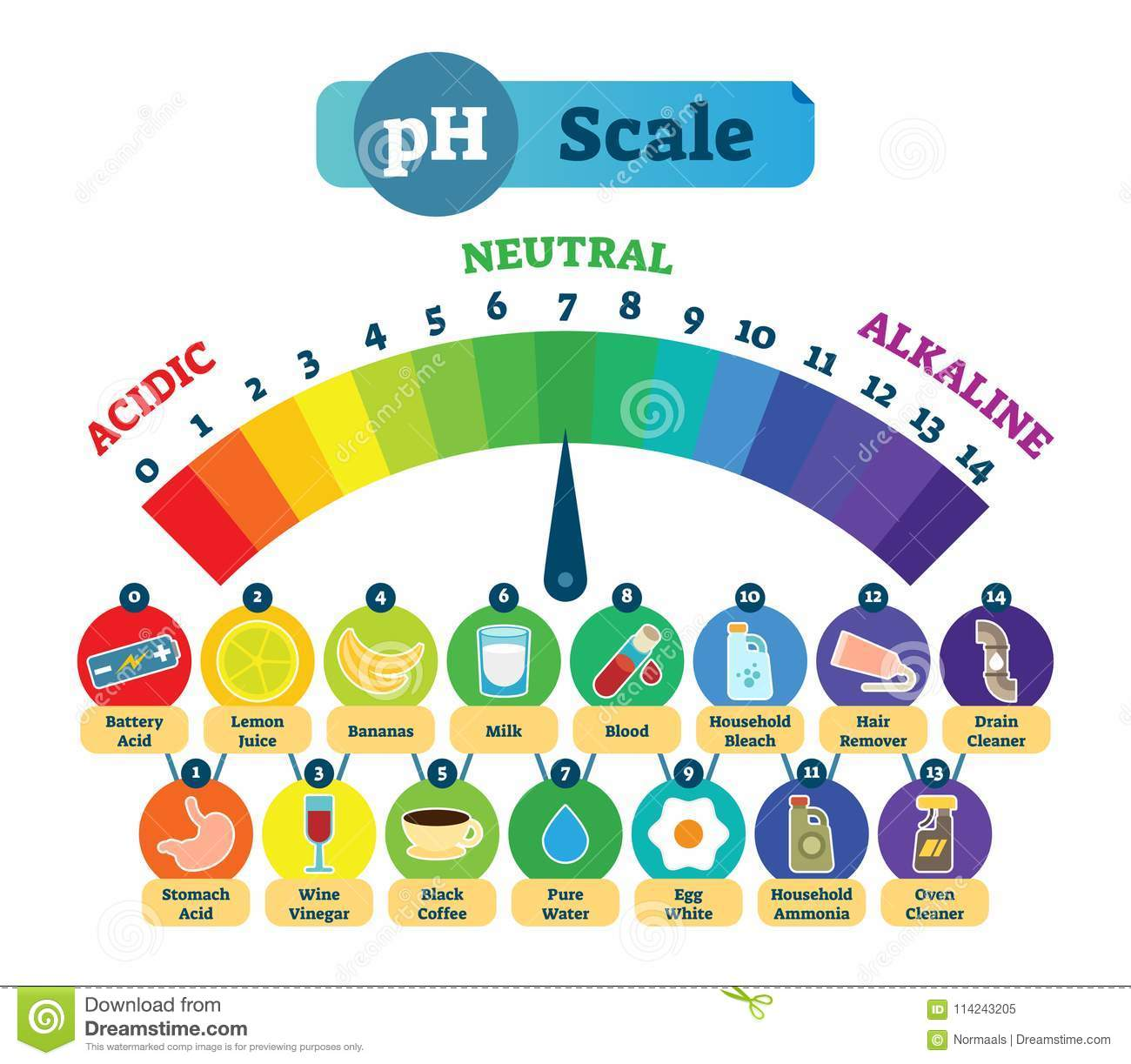 hight resolution of ph acid scale vector illustration diagram with acidic neutral and diagram od acid