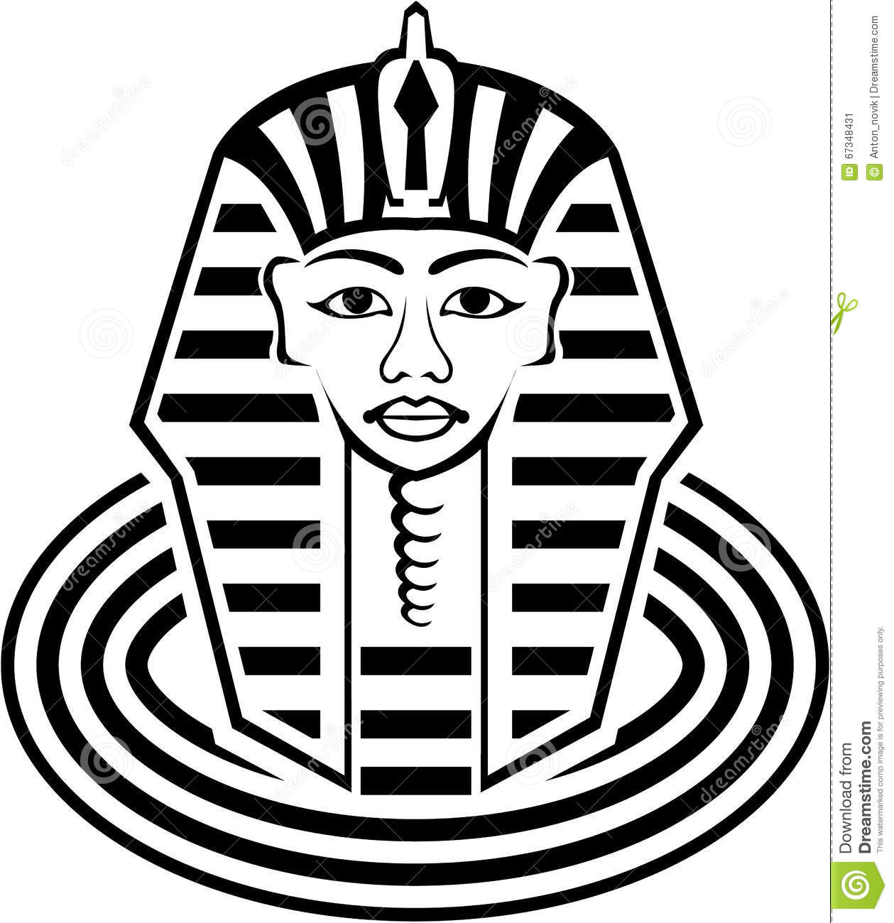 Pharaoh Vector Stock Vector Illustration Of Face Mask