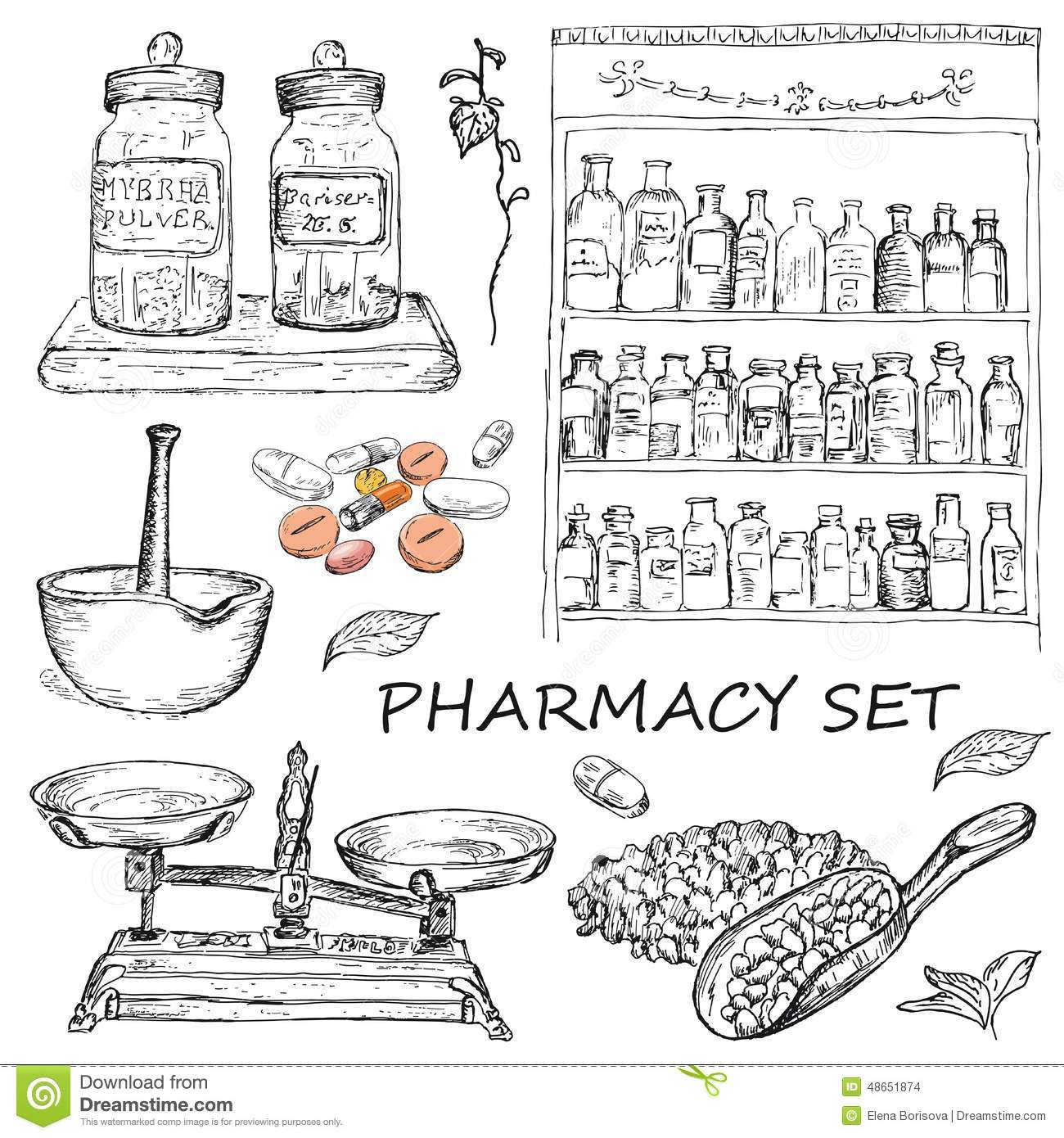 Pharmacy Stock Vector Image Of Group Image Family