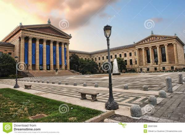 Philadelphia Museum Of Art Front East Entrance Royalty Free Stock - 26001699