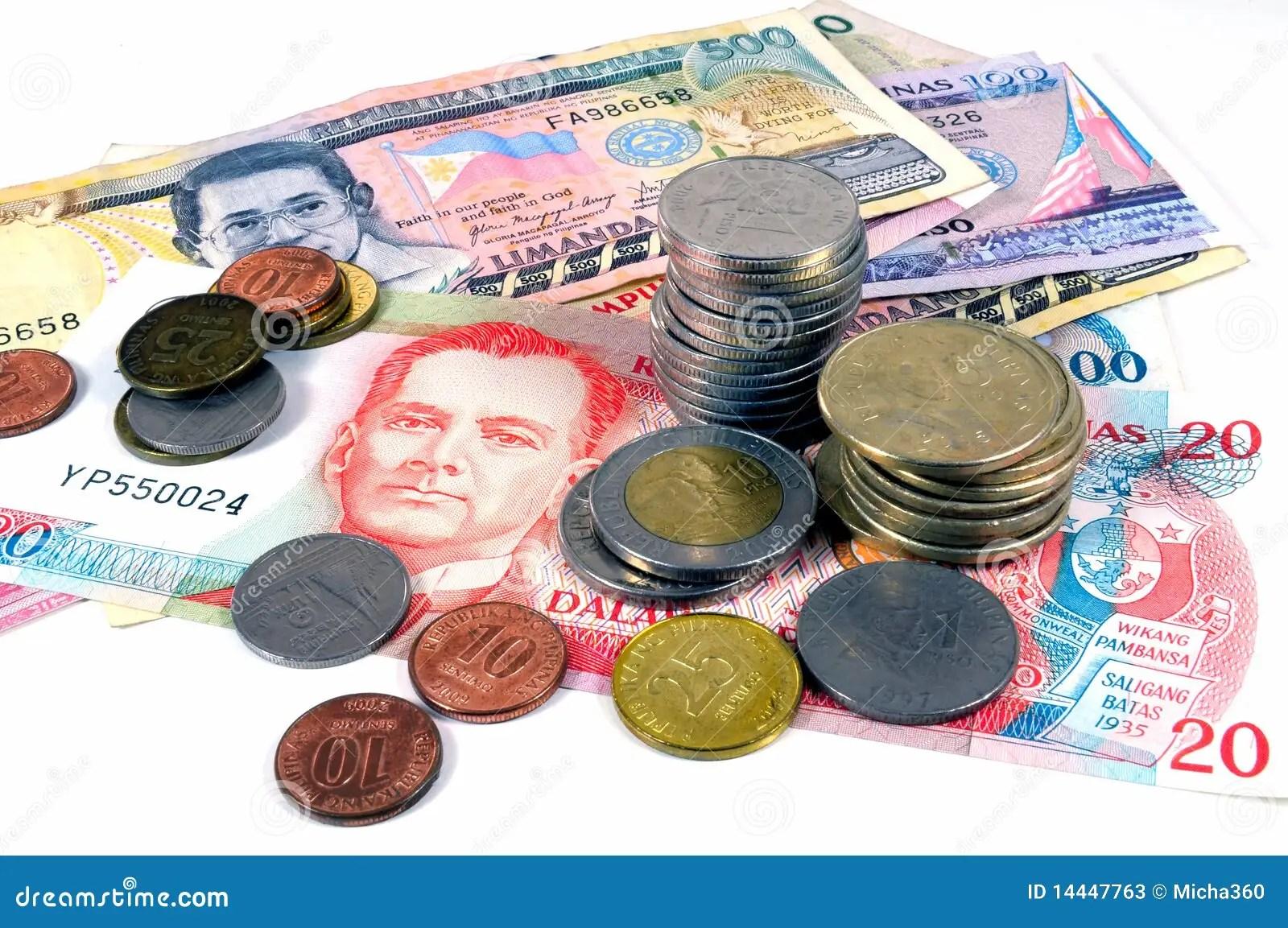 Philippinen Geld Stockbild Bild Von Geschaft Austausch