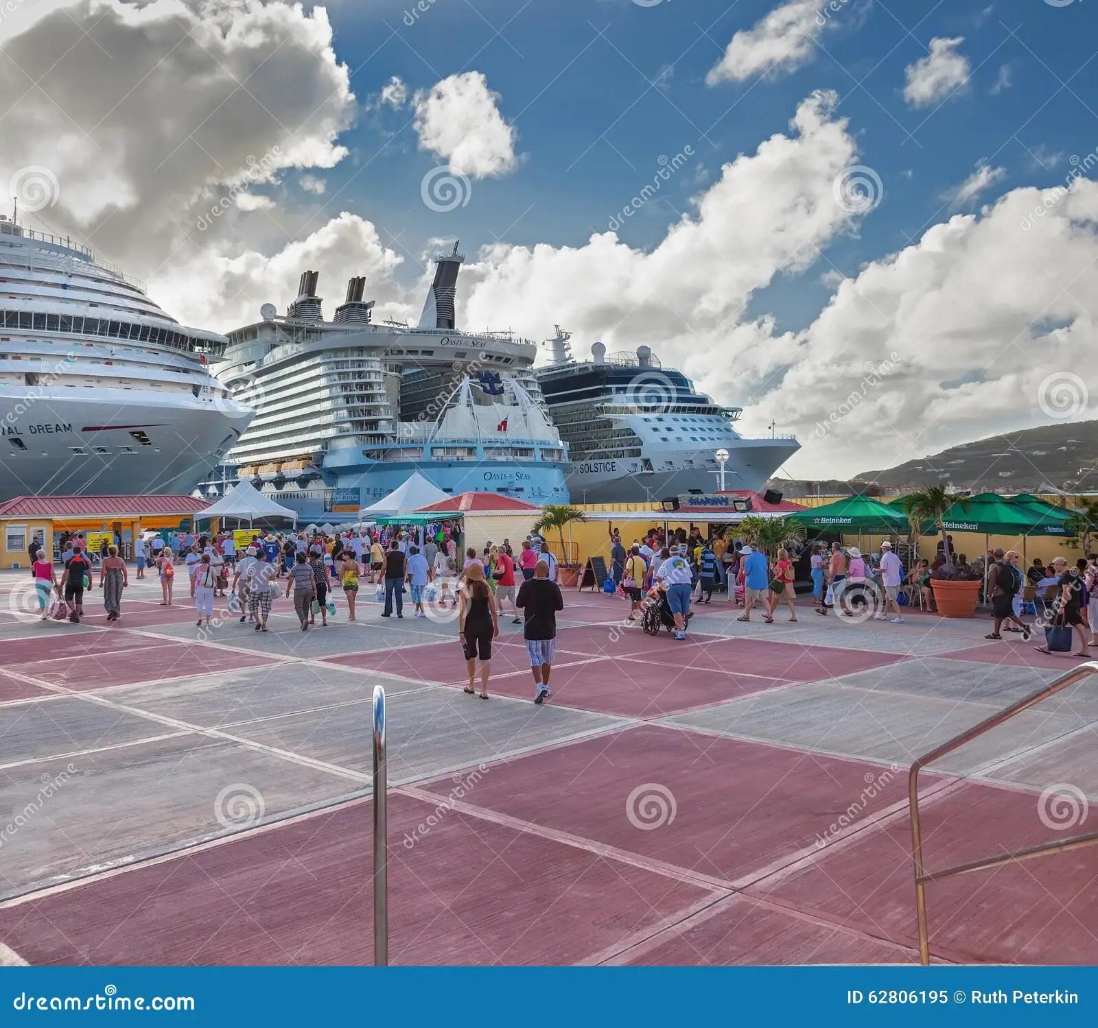 philipsburg cruise port editorial