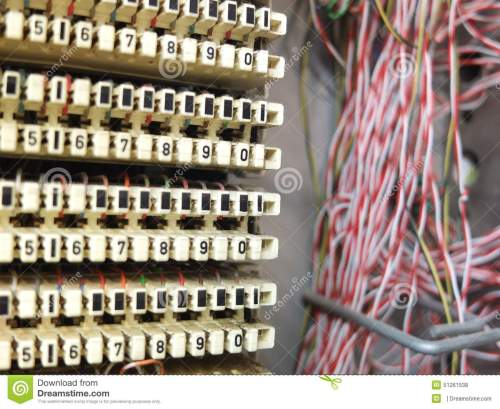 small resolution of phone junction box switchboard with lots of cables
