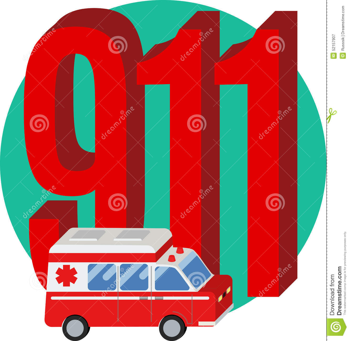 911 Phone Number Stock Vector