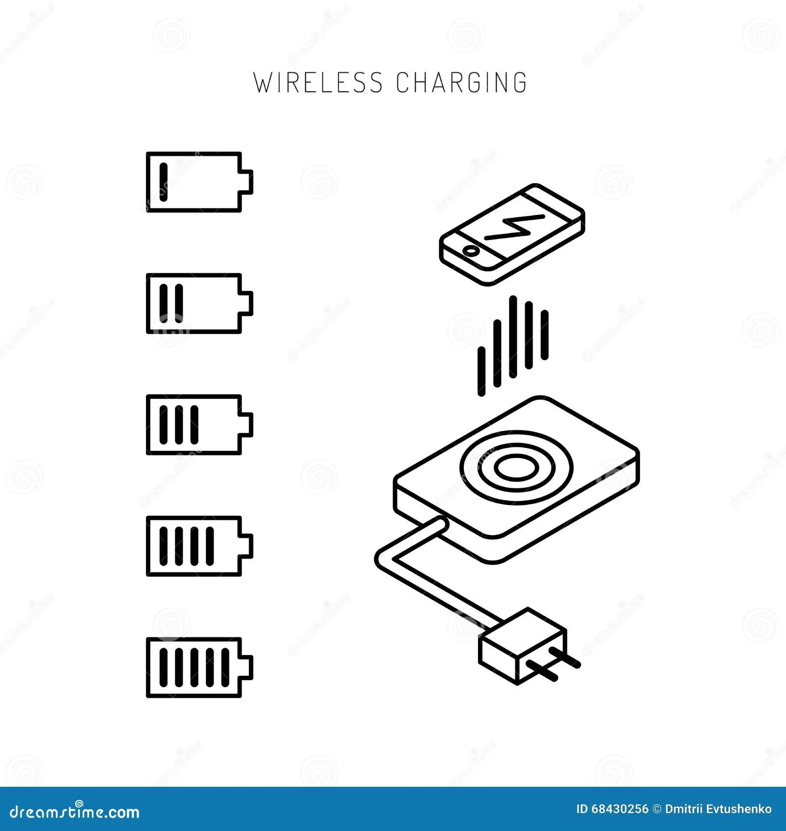 Phone Wireless Charging Stock Illustration Illustration Of Mobile