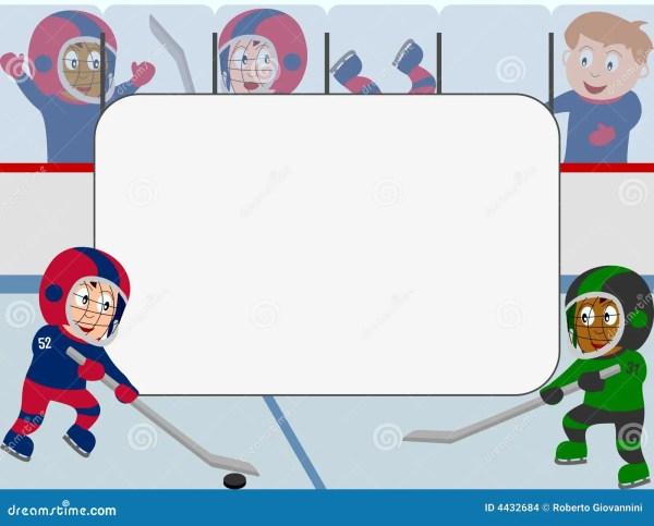 Photo Frame Ice Hockey stock illustration Illustration