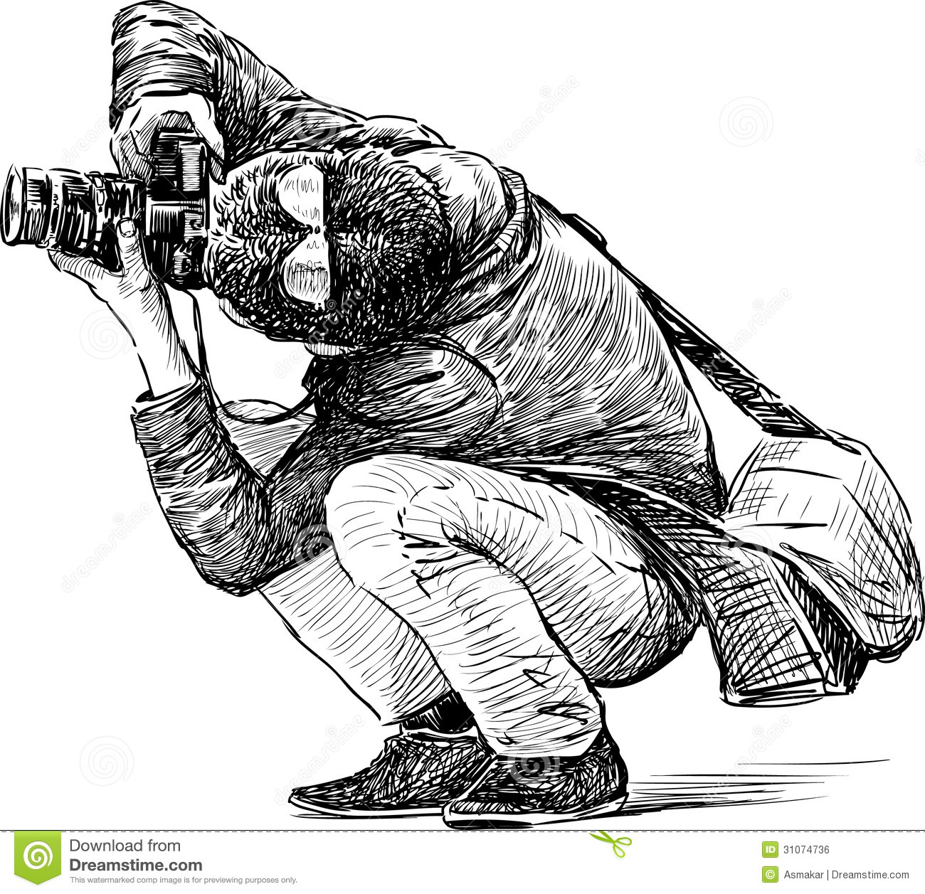 Photographer Behind Work Stock Vector Illustration Of