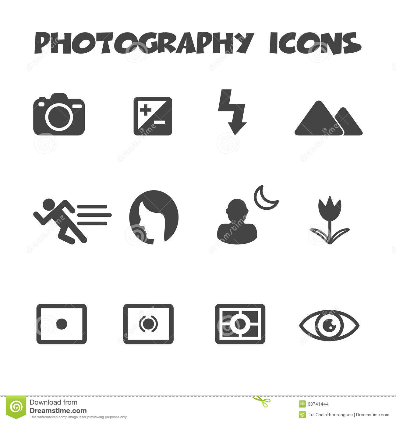 Photography icons stock vector. Illustration of exposure
