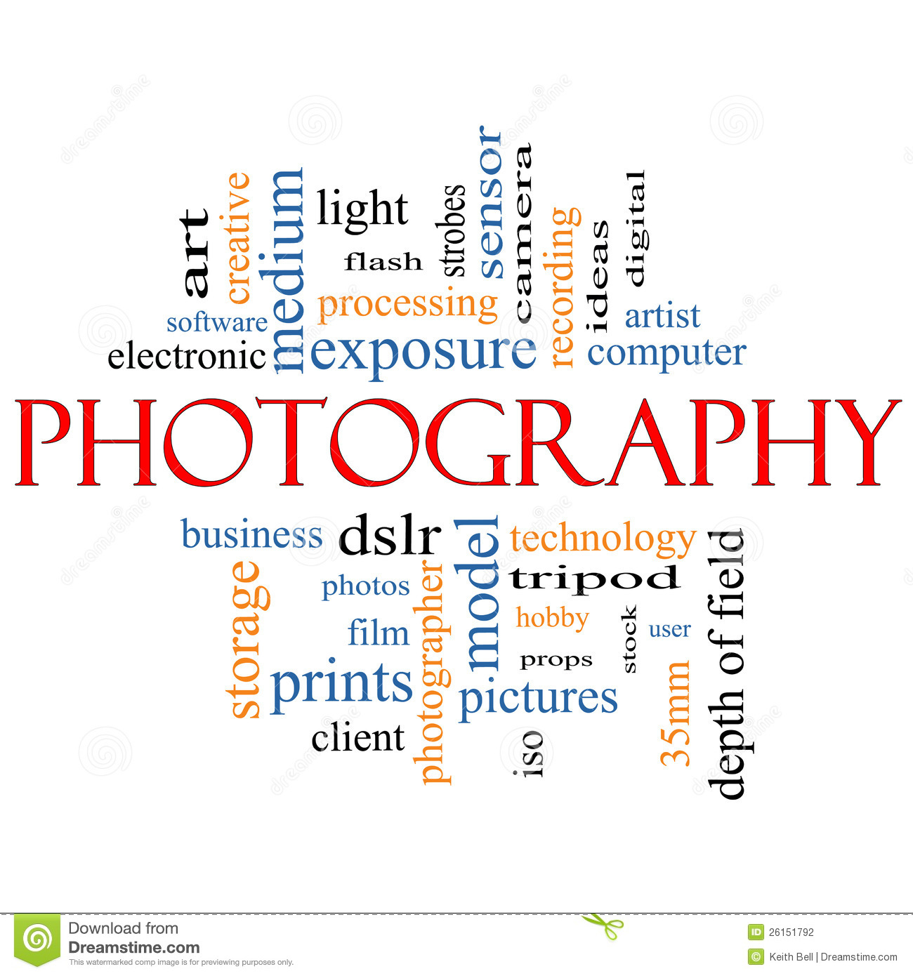 Photography Word Cloud Concept Stock Photography