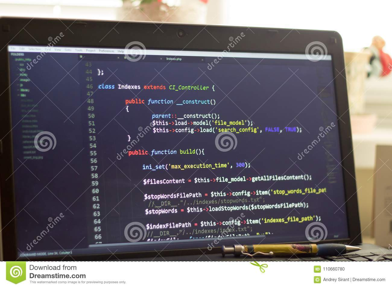 hight resolution of php back end code computer programming source code abstract screen of web developer