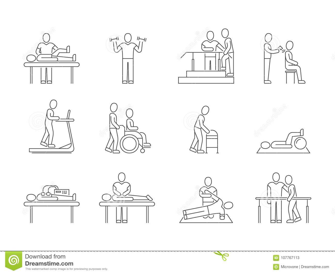 Physiotherapy And Rehabilitation Exercises And Massage