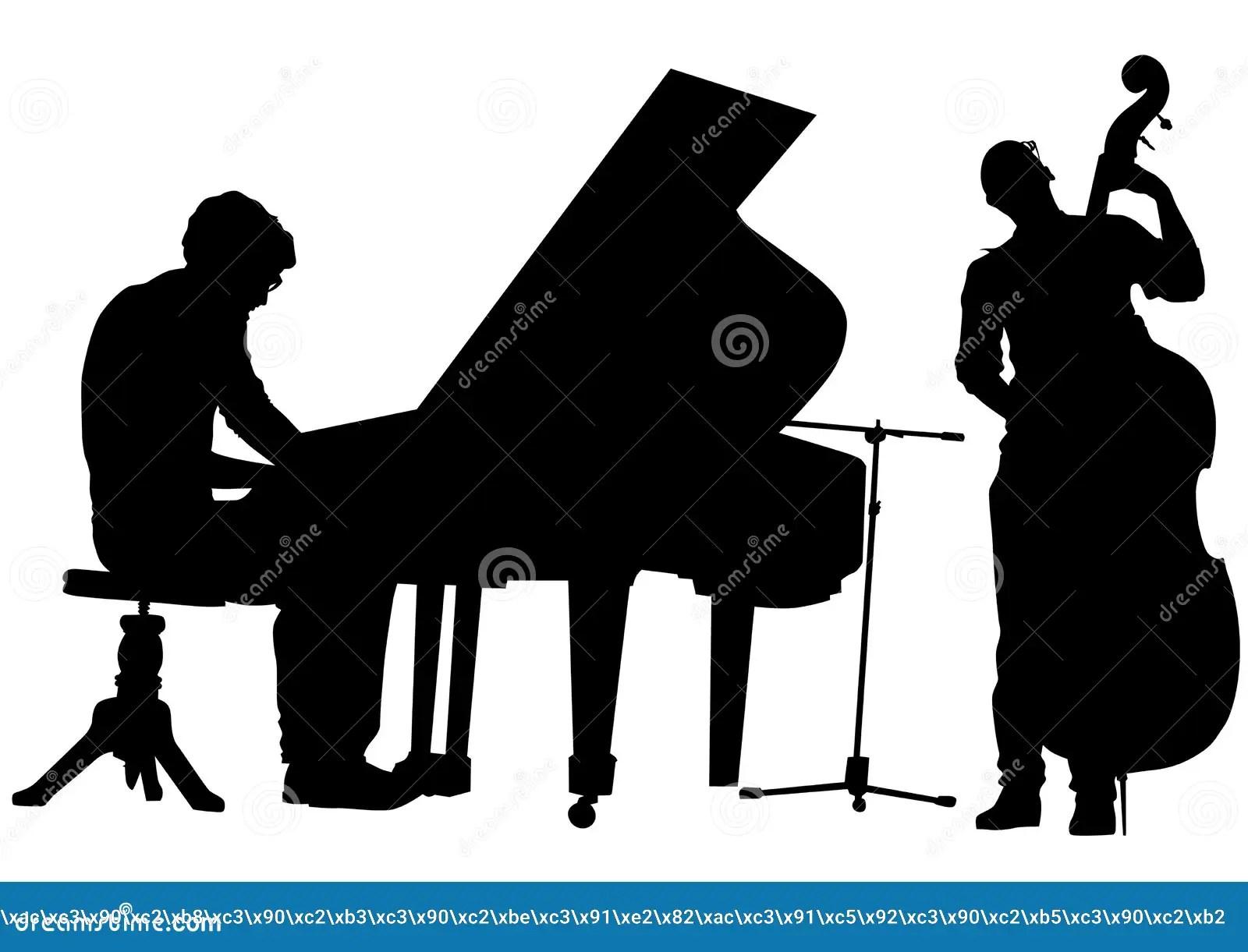 Pianista e baixo ilustrao do vetor Ilustrao de