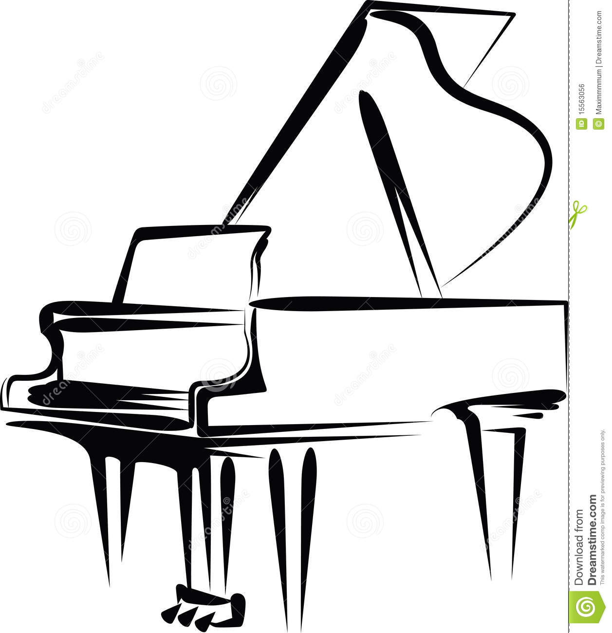 Piano stock vector. Illustration of illustration, musical