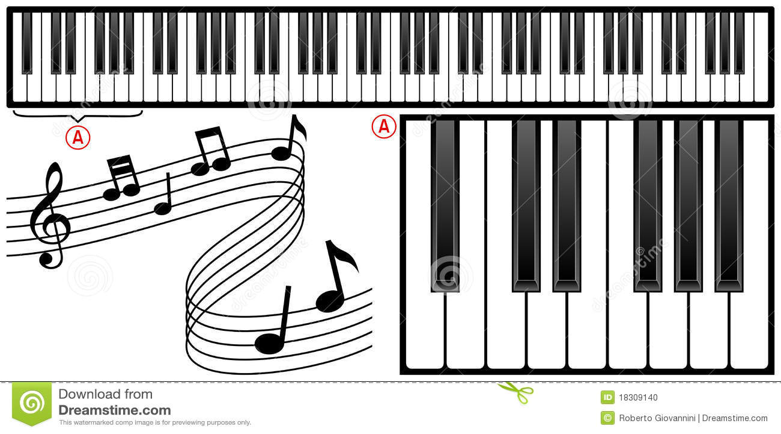 Piano Keyboard stock vector. Image of organ, instrumental