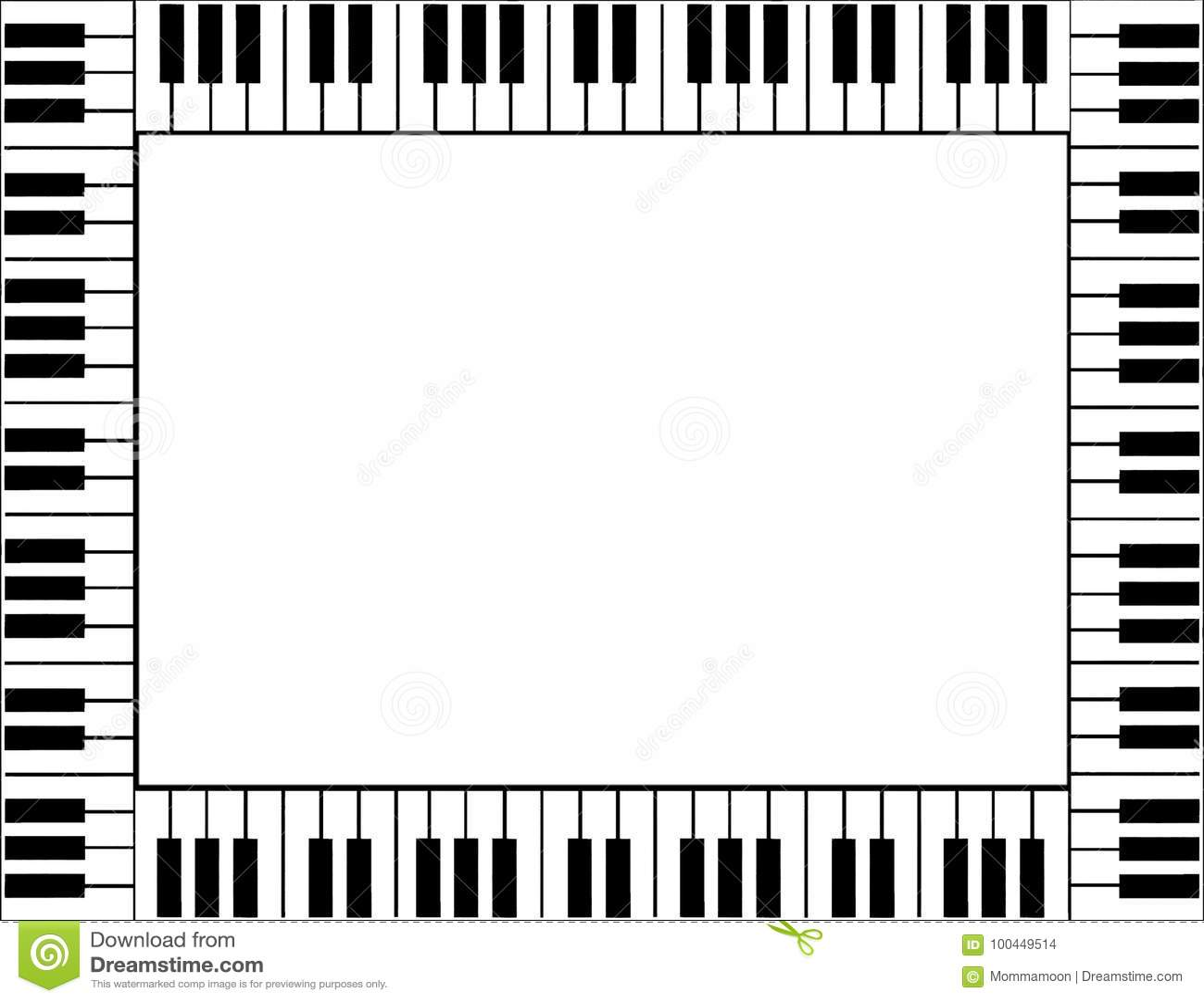 Piano Border Stock Illustrations