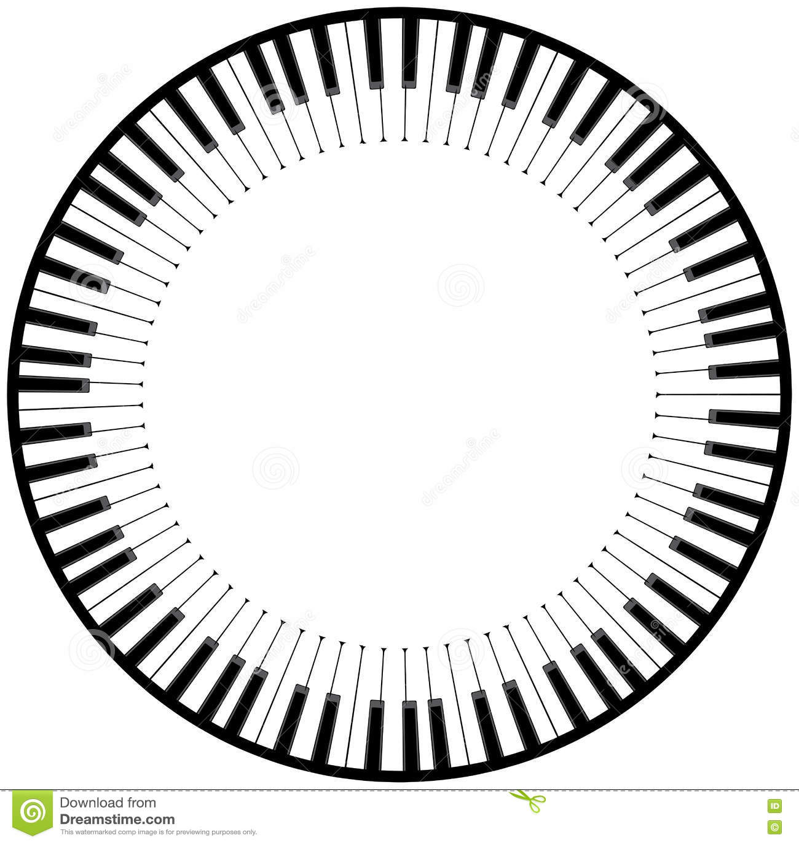 Piano Keyboard Illustration Stock Vector