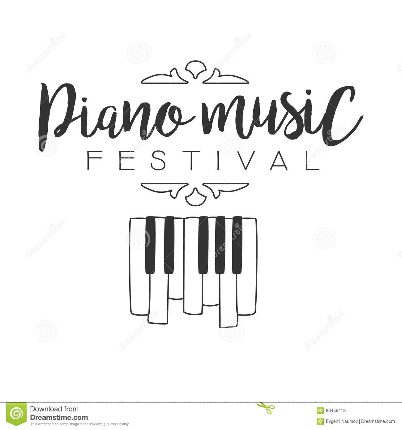 Piano Live Music Concert Festival Black And White Poster