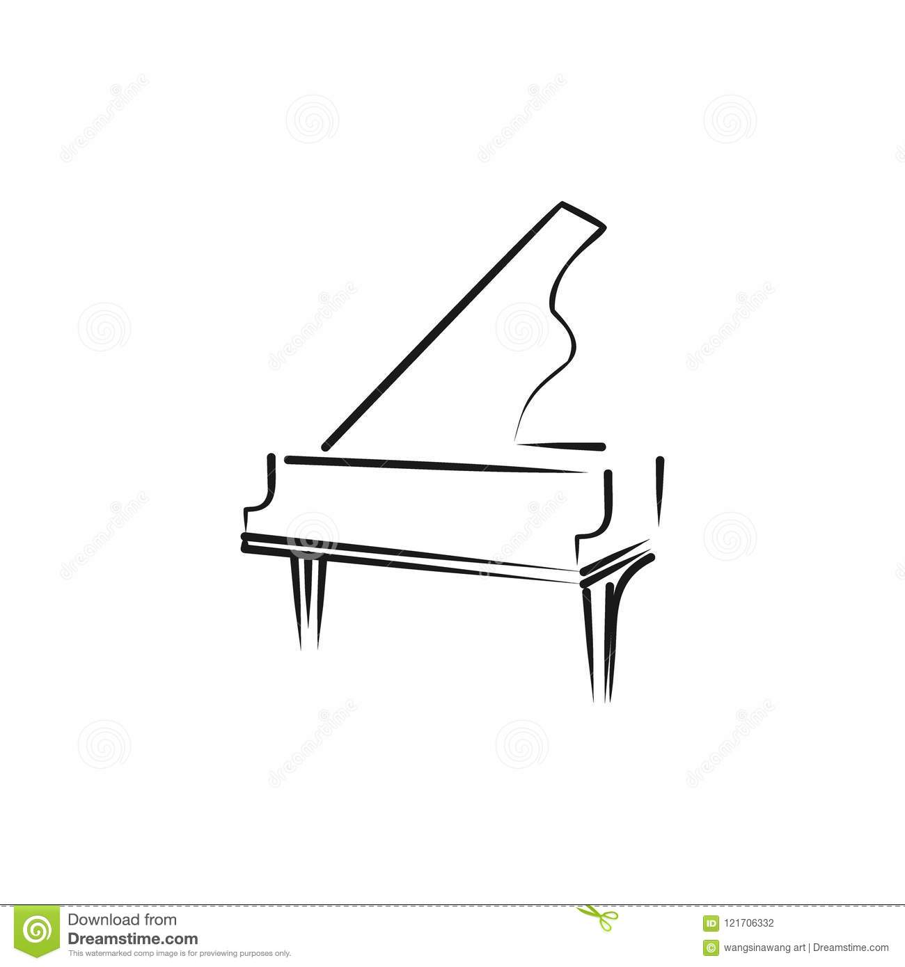 Piano Logo Stock Vector Illustration Of Entertainment