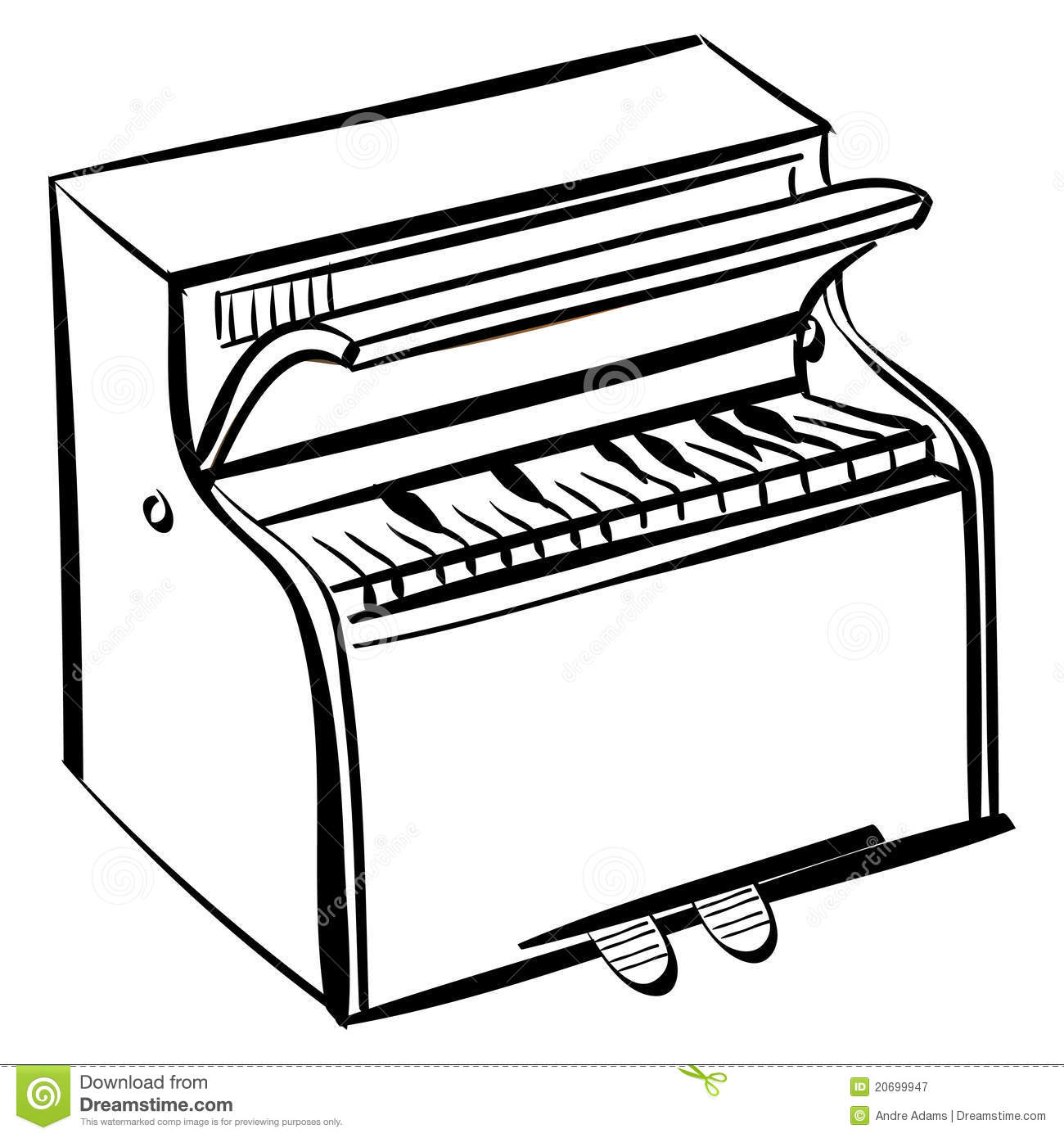 Piano Outline Royalty Free Stock Photography