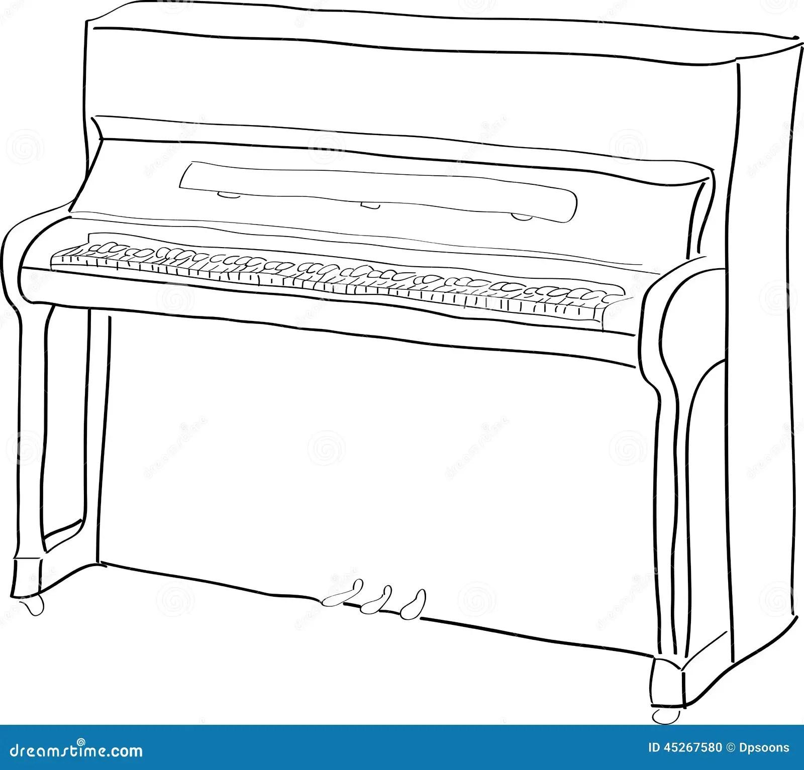 Piano Stock Vector