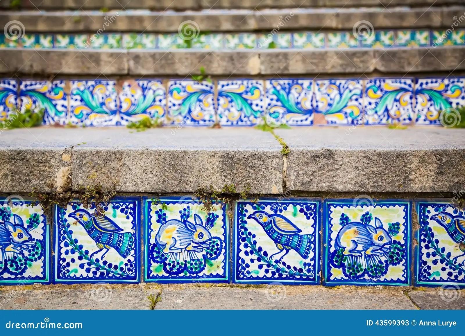 Piastrelle Di Ceramica Del Primo Piano Sui Punti Fotografia Stock  Immagine 43599393