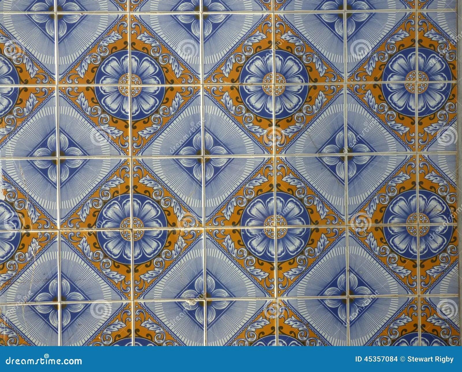 Piastrelle Di Ceramica Portoghesi Tradizionali Fotografia Stock  Immagine di esterno