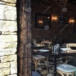 Picking Through Window Of Empty Cozy Restaurant Interior Stock Image Image Of Cozy Outdoor 110252765