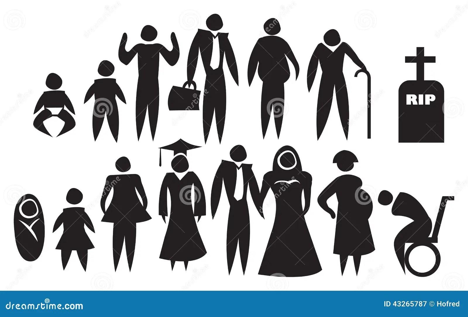 Pictogram Van De Het Levensontwikkeling Vector Illustratie