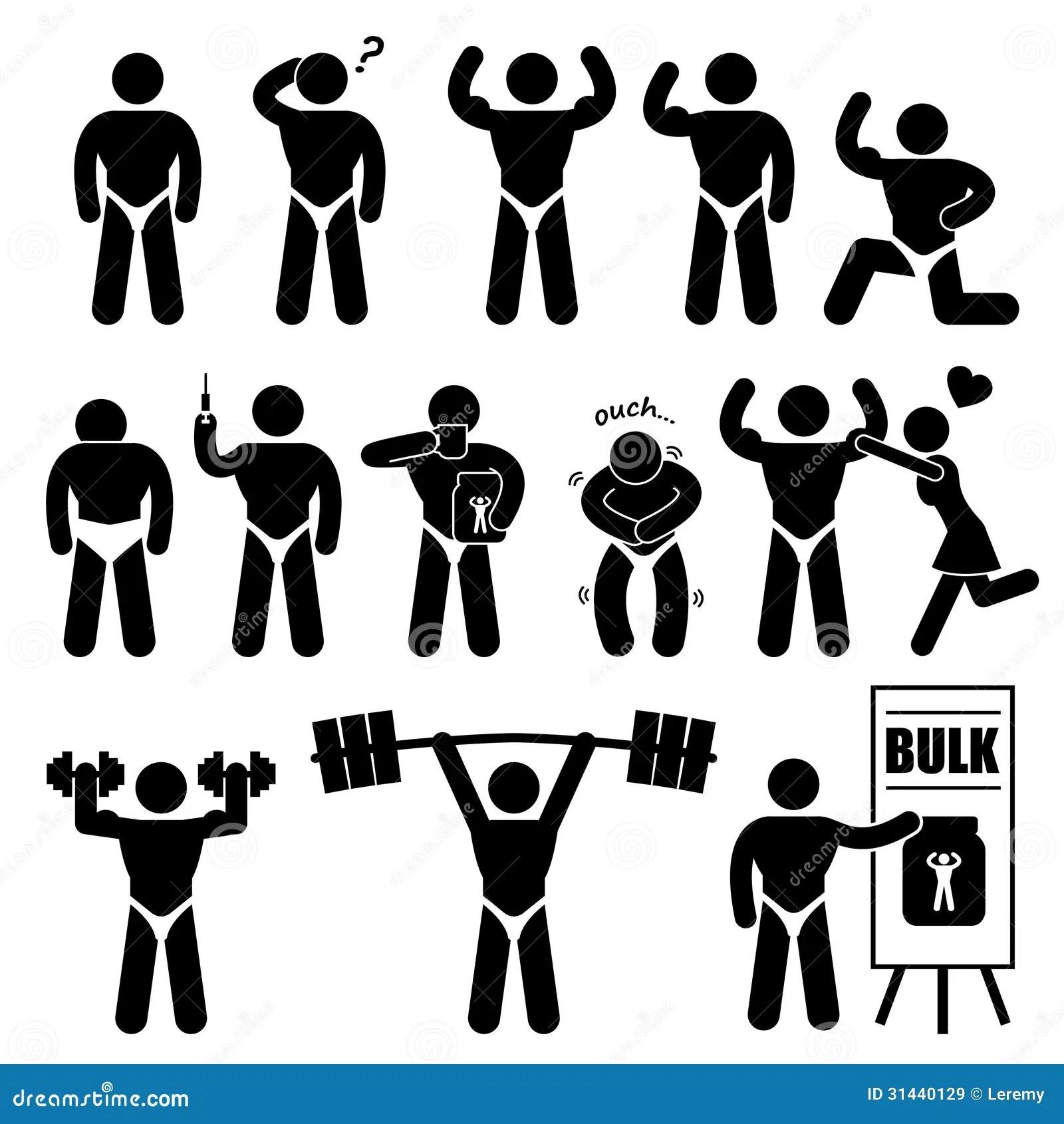 Pictograma De Bodybuilder Muscle Man Del Culturista