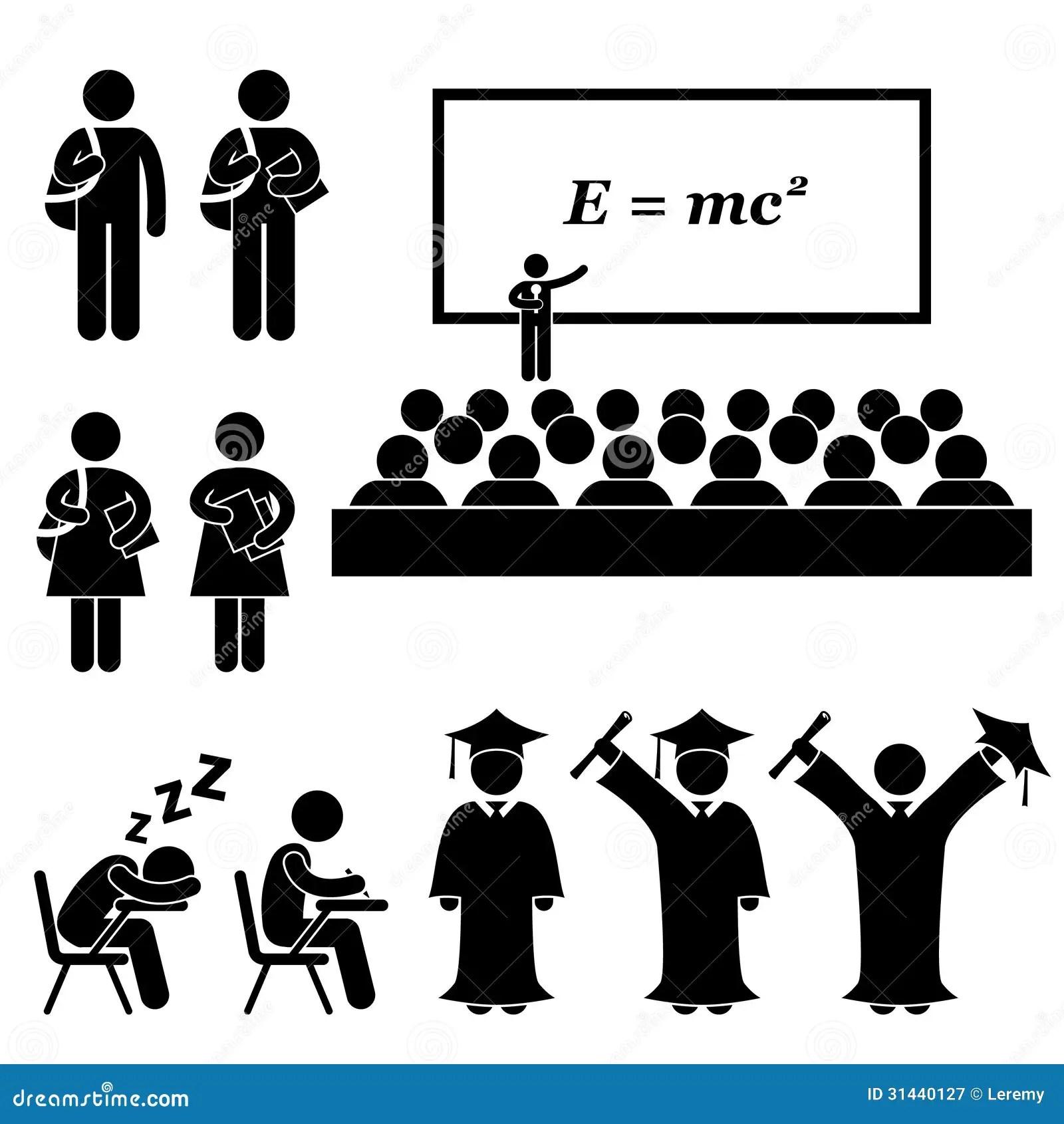 Pictograma De School College University Del Estudiante