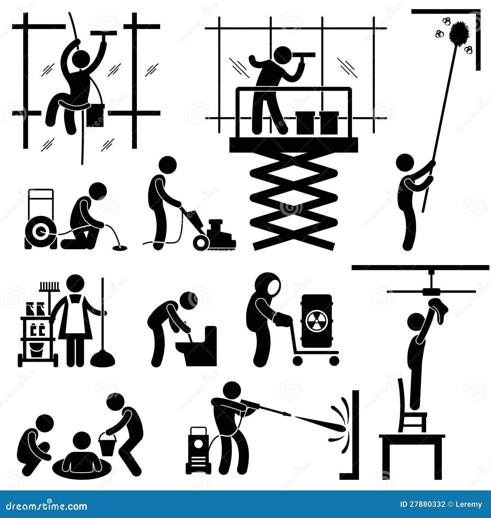 Pictograma Industrial Del Trabajo De Servicio De La