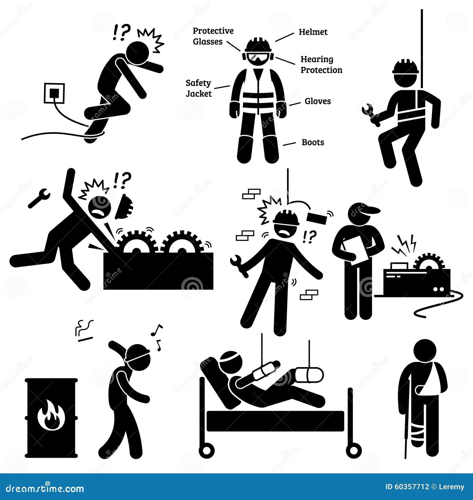 Pictogramme Clipart De Risque D Accident De Professionnel