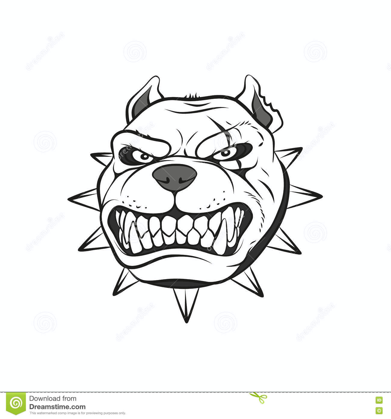Picture Angry Pitbull Stock Vector Illustration Of Growl