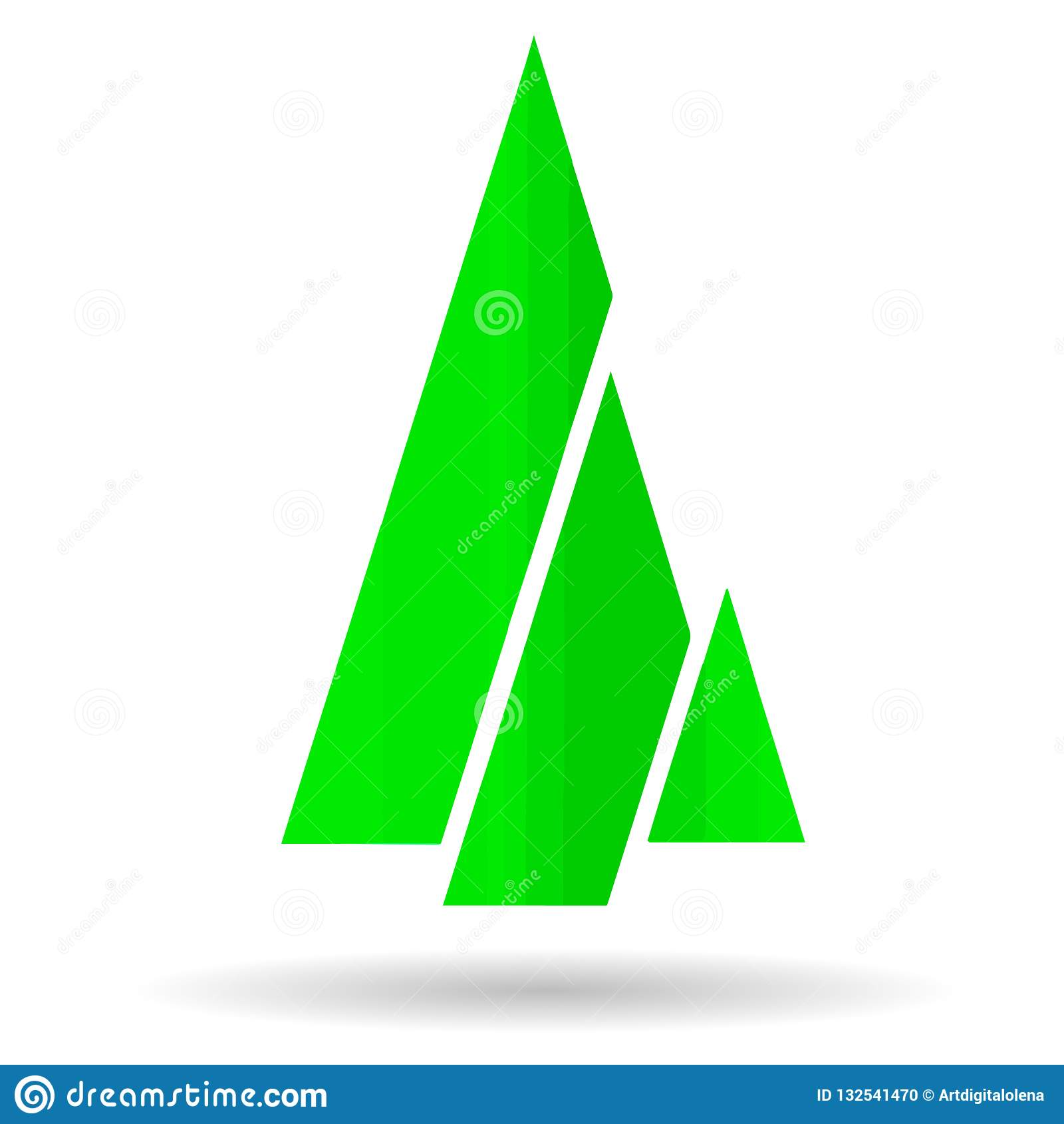 A Picture Of A Stylized Christmas Tree From Green