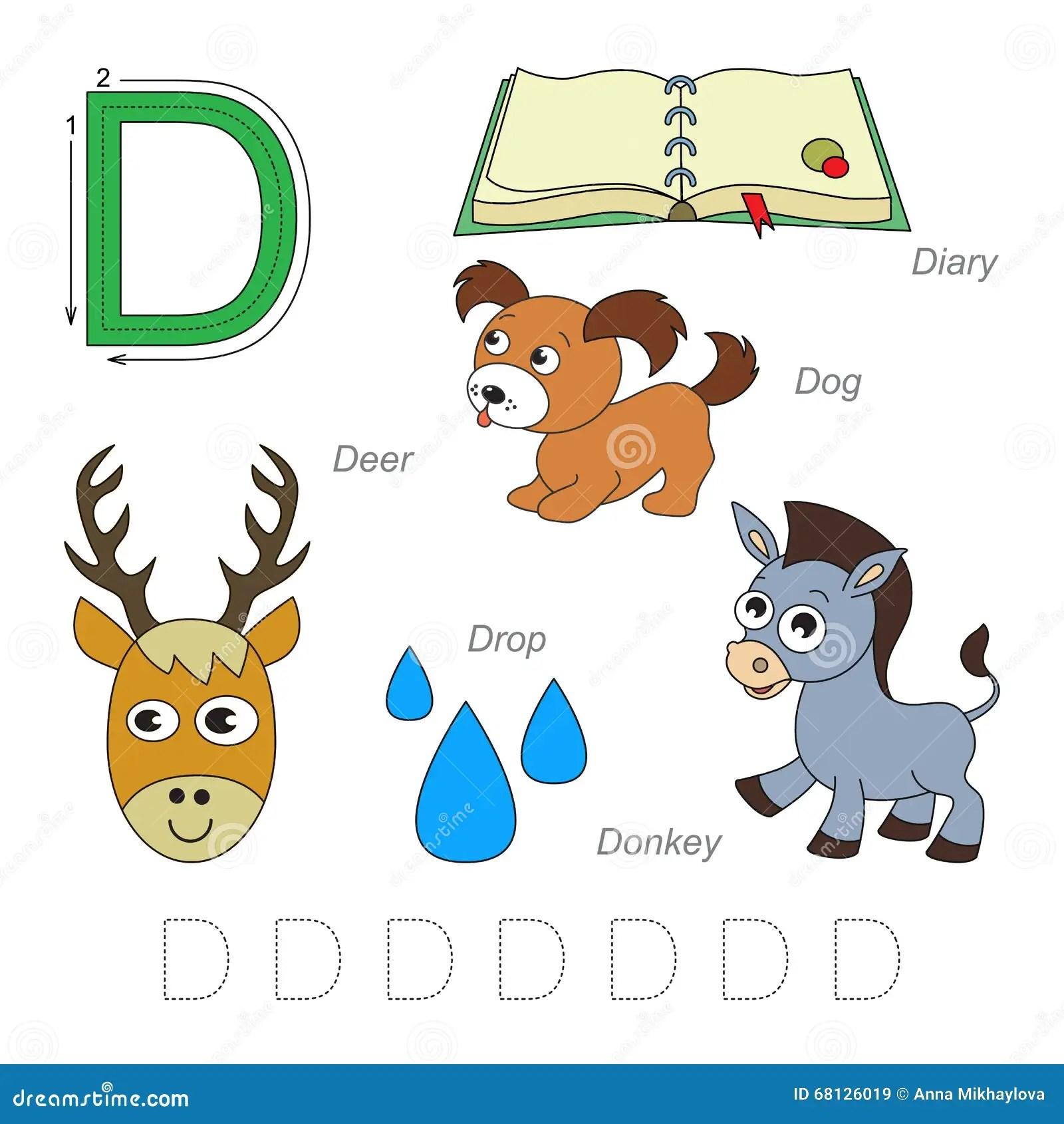 Pictures For Letter D Stock Illustration Illustration Of