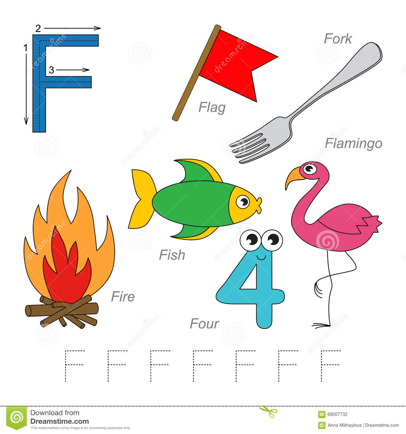 Pictures For Letter F Stock Vector Illustration Of