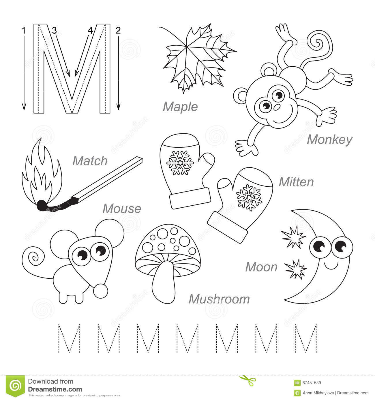 Letter M Worksheet For Kinder